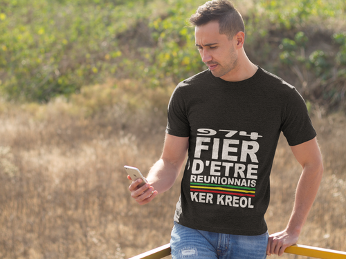 T-shirt Fier d'être Réunionnais
