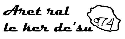 Sticker écriture Aret ral le ker d'sus - Taille M