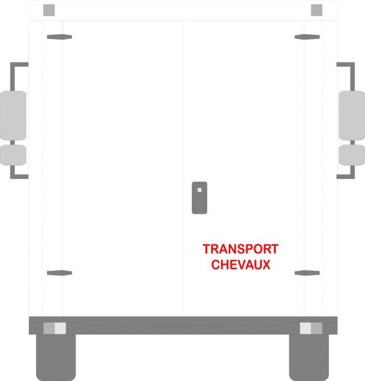 Sticker Voiture Transport Chevaux 30 x 10 cm