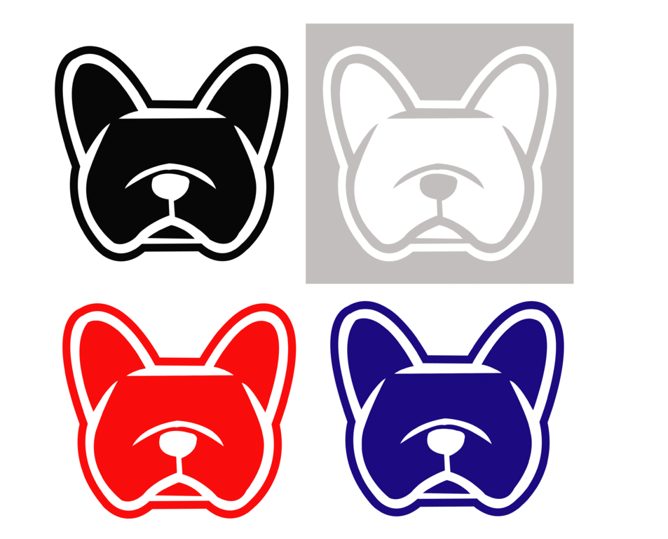 Sticker bouledogue français - Dim 3.9 x 3.6cm