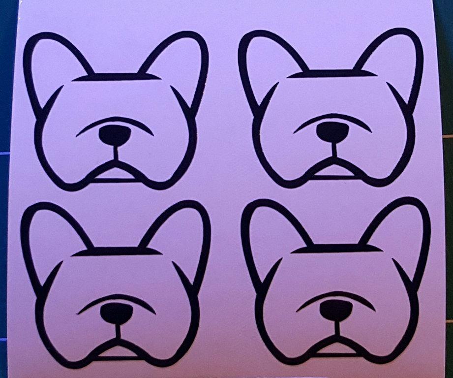 Sticker bouledogue français - Dim 10 x 9cm
