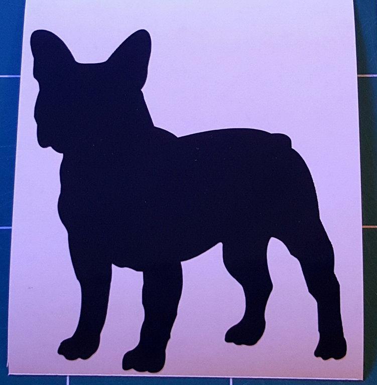 Sticker bouledogue français - Dim 4 x 4.4cm