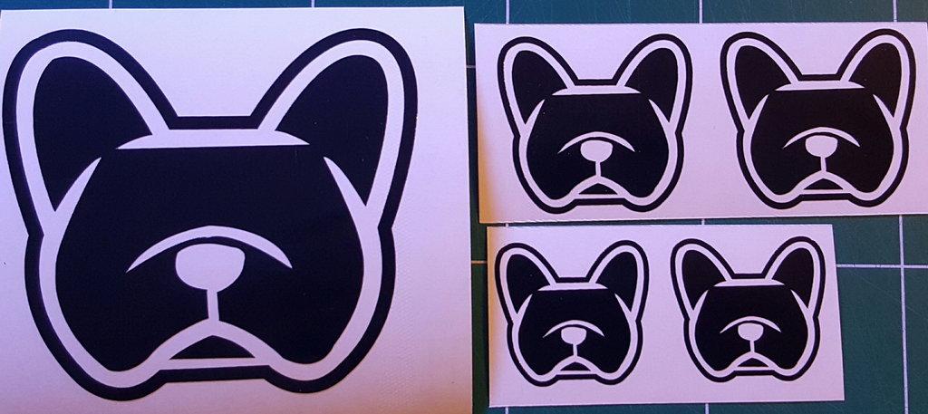 Sticker bouledogue français - Dim 15 x 13.8cm