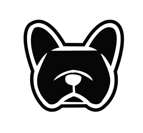 Sticker bouledogue français - Dim 20 x 18.4cm
