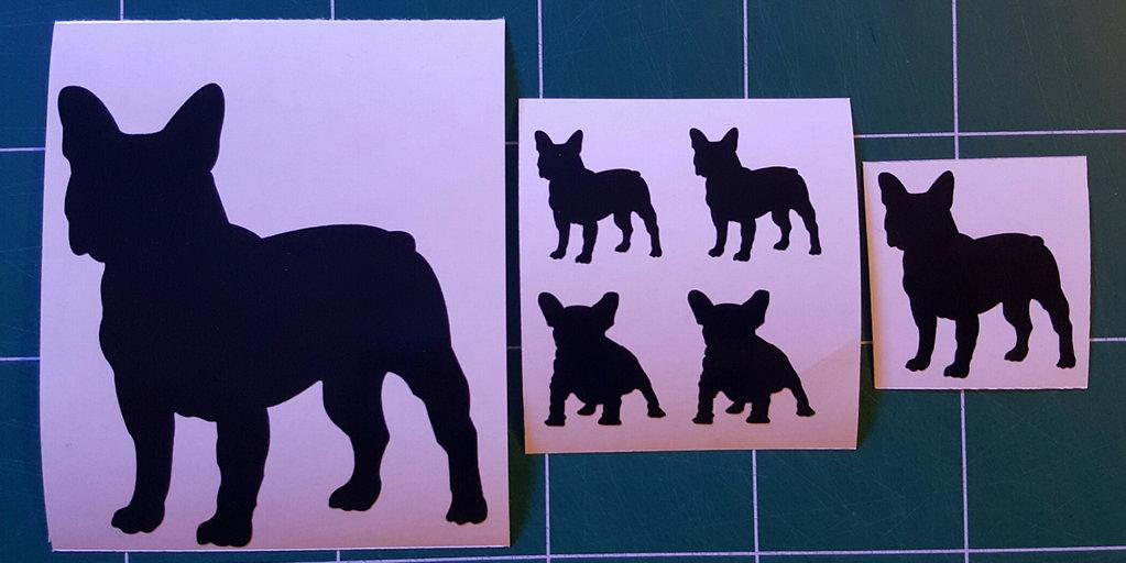 Sticker bouledogue français - Dim 5 x 5.5cm