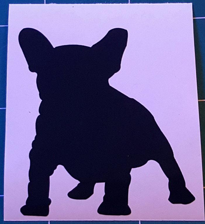 Sticker bouledogue français - Dim 10 x 11.0cm