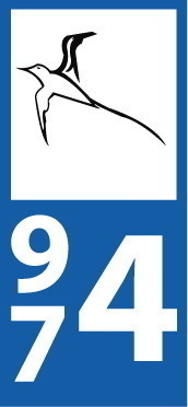 Sticker plaque immatriculation 974 Voiture - 14