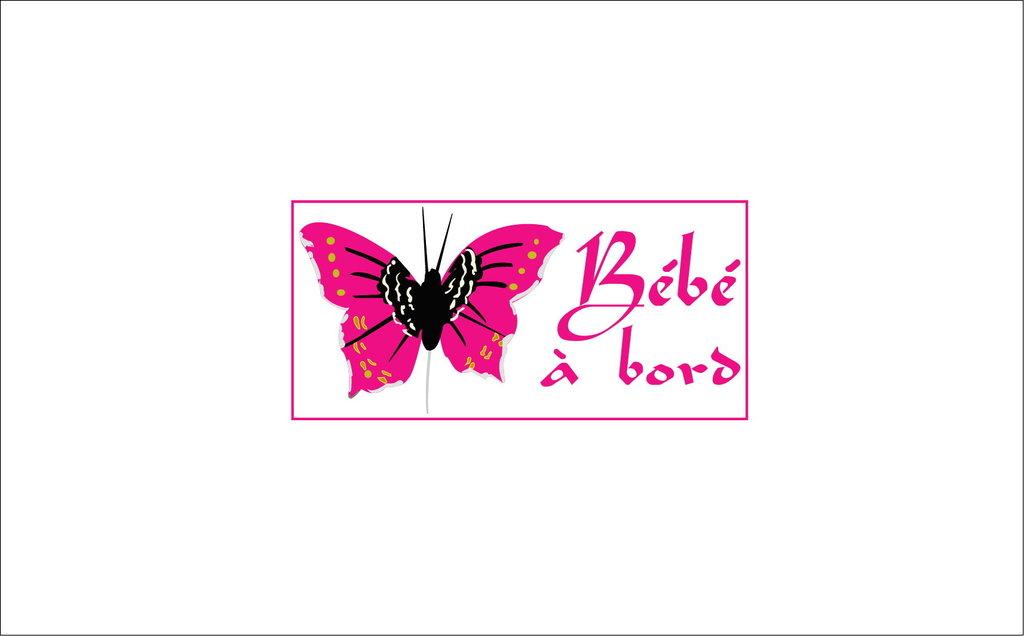 Sticker Bébé à bord 32 - Papillon