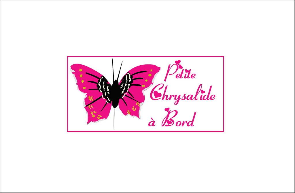 Sticker Bébé à bord 33 - Chrysalide à bord