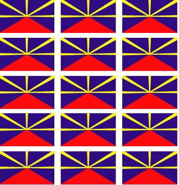 Planche de 15 mini sticker drapeau Lo Mahavéli