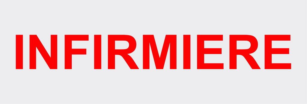 """Sticker écriture """"INFIRMIERE"""" 39 x 5 cm"""