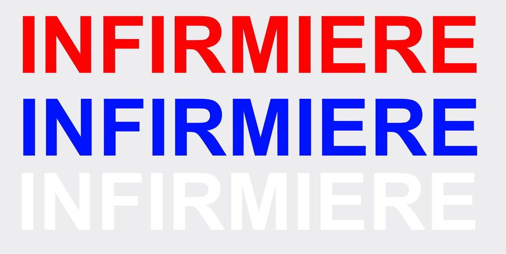"""Sticker écriture """"INFIRMIERE"""" 45 x 5.5cm"""