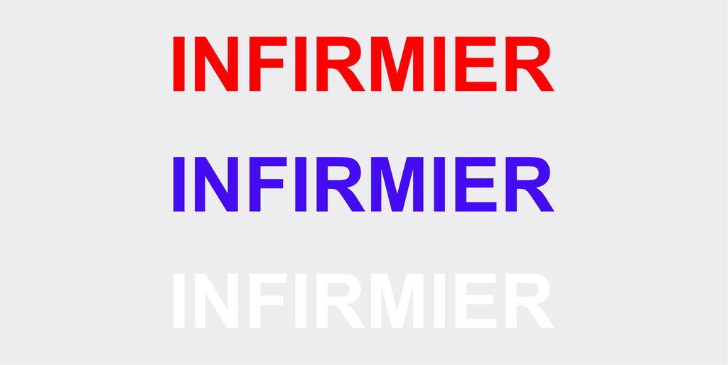 "Sticker écriture ""INFIRMIER"" 35 x 5 cm"