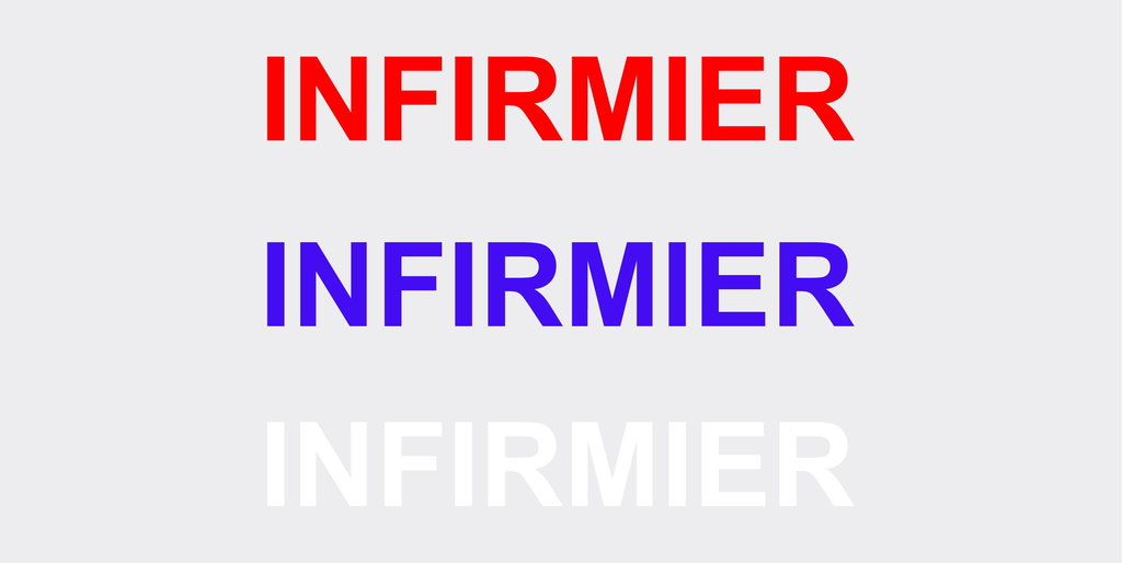 "Sticker écriture ""INFIRMIER"" 40 x 5.5cm"