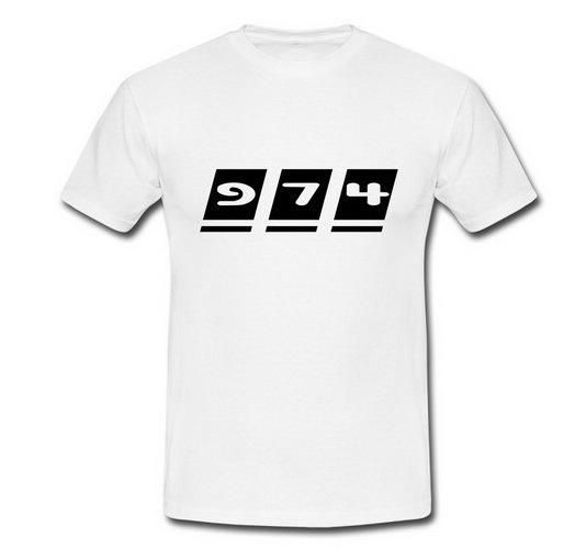 T-shirt Homme écriture 974