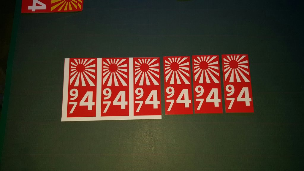 Lot 2 Stickers plaque immatriculation Voiture - 36