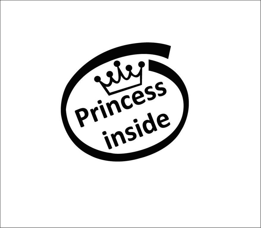 Sticker Bébé à bord 11 - Princess inside