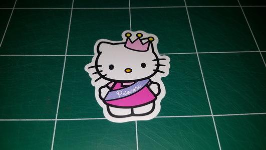 Sticker Hello Kitty 100 - Dim 80 x 65mm