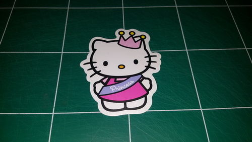 Sticker Hello Kitty 100 - Dim 80 x 65mm