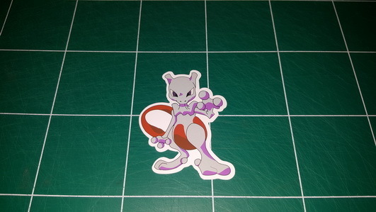 Sticker Pokemon 107 - Dim 75 x 60mm