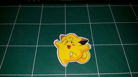 Sticker Pokemon 110 - Dim 65 x 70mm