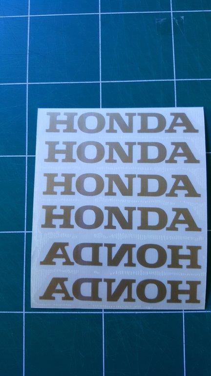 Lot de 2 Stickers Logo Honda -Dim 20x3cm- PROMO