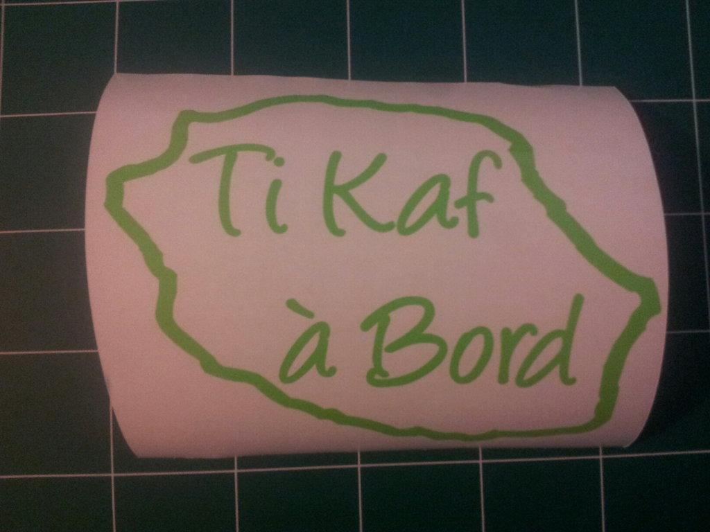 Sticker Bébé à bord 15 - Ti kaf à bord - PROMO