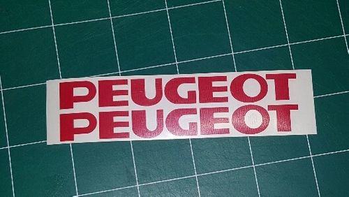 Lot de 2 Stickers Logo Peugeot -Dim 20x2.5cm -PROMO
