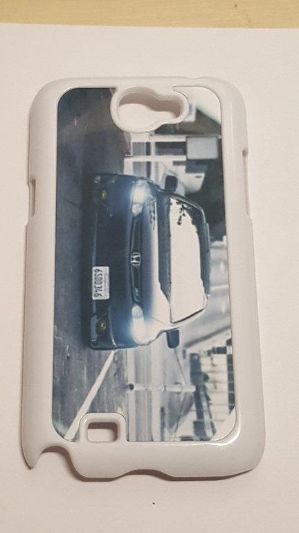 Coque Galaxy Note 2 Blanc - Voiture Honda
