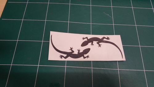 Sticker Margouillat double - Taille 14.0 x 5cm