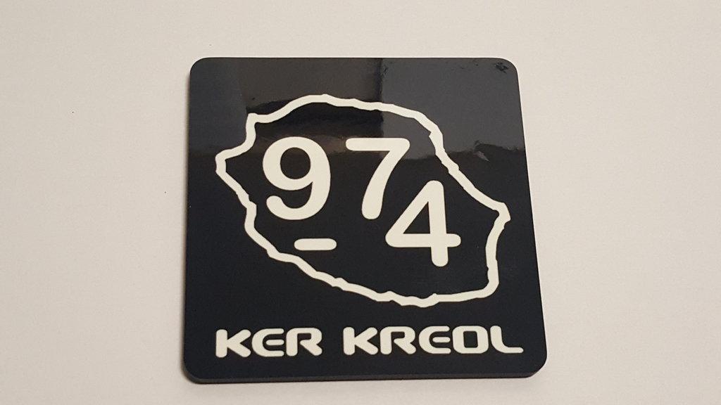 Sous verres 90x90mm 974 Ker Kreol