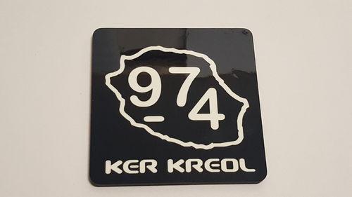 Lot de 3 sous verres carré 90x90mm 974 Ker Kreol
