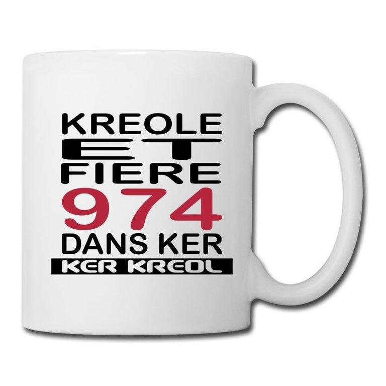 Mug 974 Ker Kreol - Kreole et Fiere