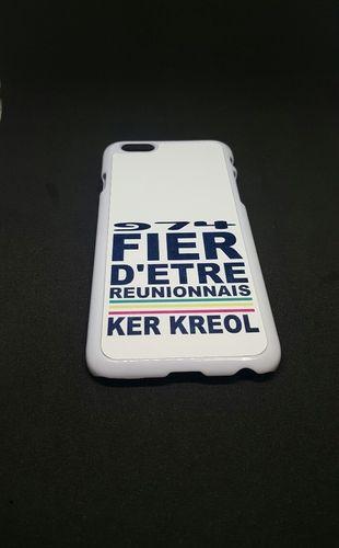 Coque Iphone 6 Blanc - Fier d'etre Réunionnais