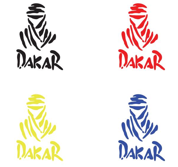 Sticker Dakar - Dim 25 x 17,5cm
