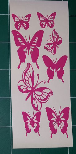 Sticker Papillon 08p - Dim 10x22,5cm
