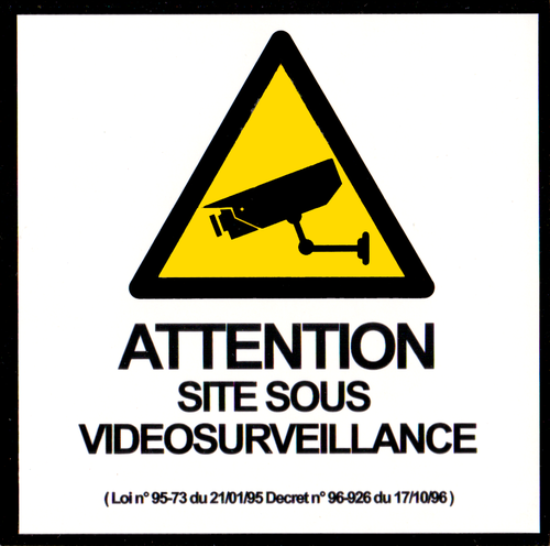 Lot 2 stickers Videosurveillance - 9 x 9cm