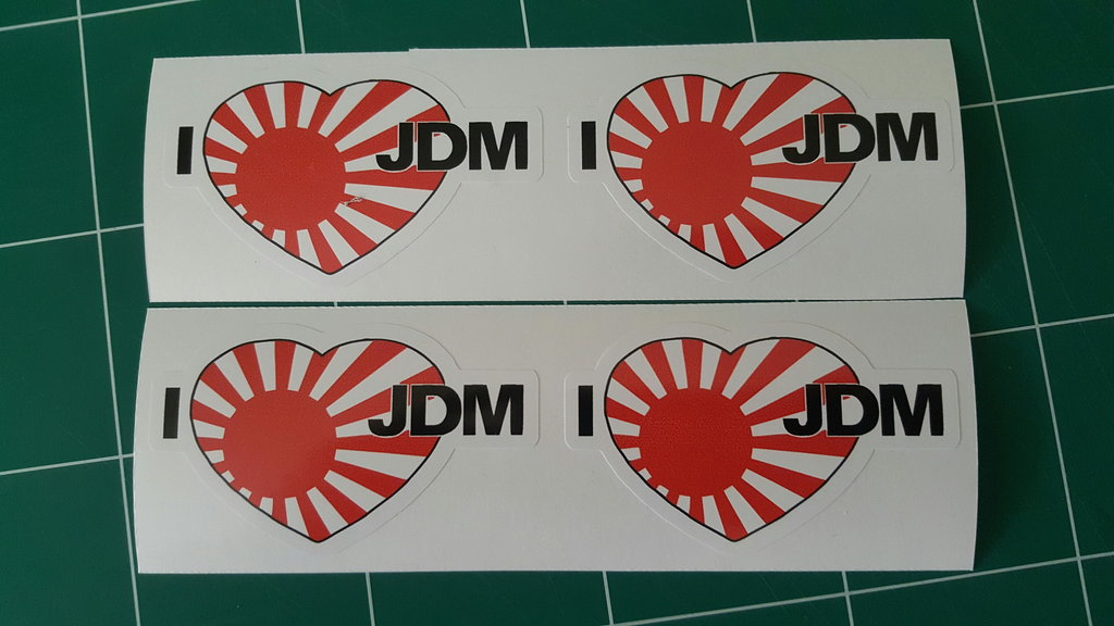 Sticker japonais i love JDM - Taille 100 x 61 mm