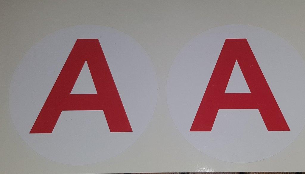 Sticker plaque A - Jeune conducteur moto 10cm