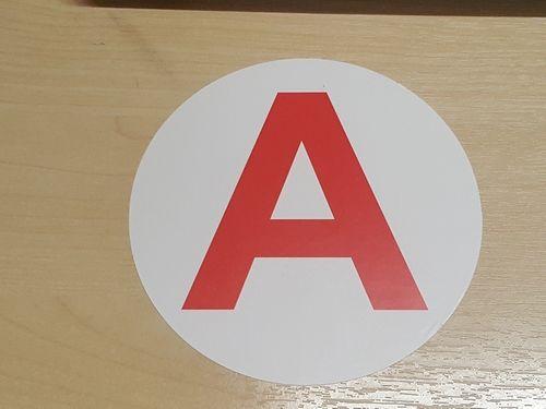 Sticker plaque A - Jeune conducteur voiture 15cm