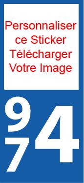Lot 2 Stickers Personnalisé plaque immatriculation Voiture