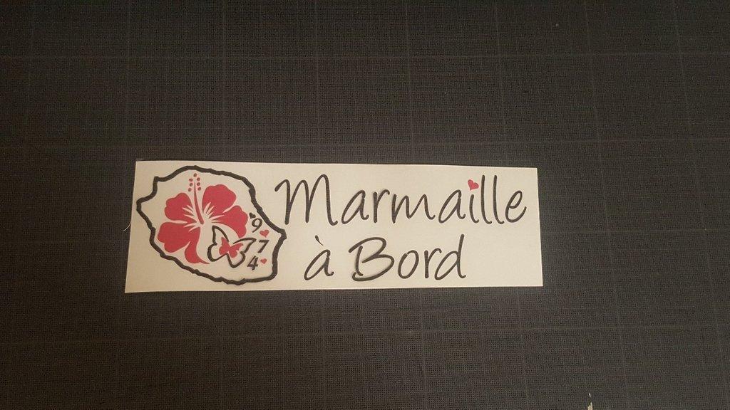 Sticker Bébé à bord 29 - Marmaille à Bord
