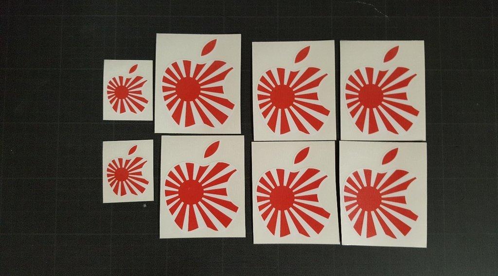 Sticker japonais 012 - Taille 72 x 90 mm