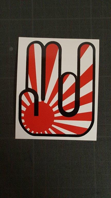 Sticker japonais 014 - Taille 80 x 64 mm