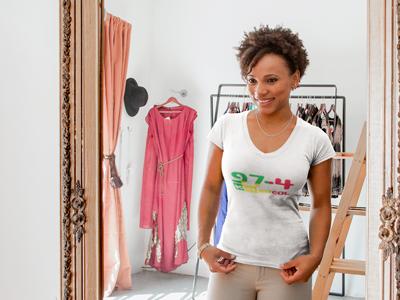 T-shirt Femme 974 Ker Kreol Roots