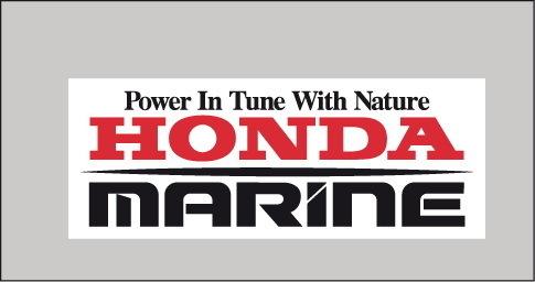 Sticker Logo Honda Marine - Taille 15 x 6 cm