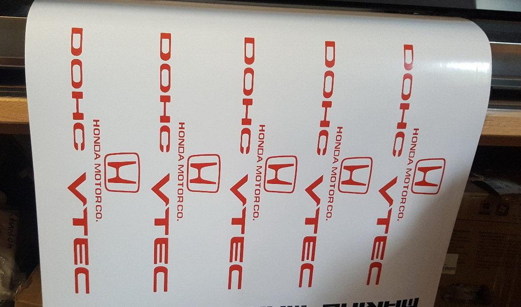 Sticker Logo Honda DOHC - Taille 20 x 5,2 cm
