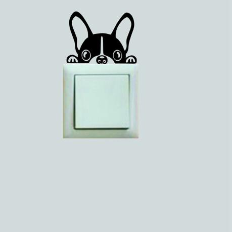 Sticker Interrupteur lumiere bouledogue français