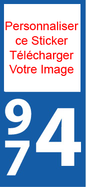 Lot 2 Stickers Personnalisé plaque immatriculation Moto