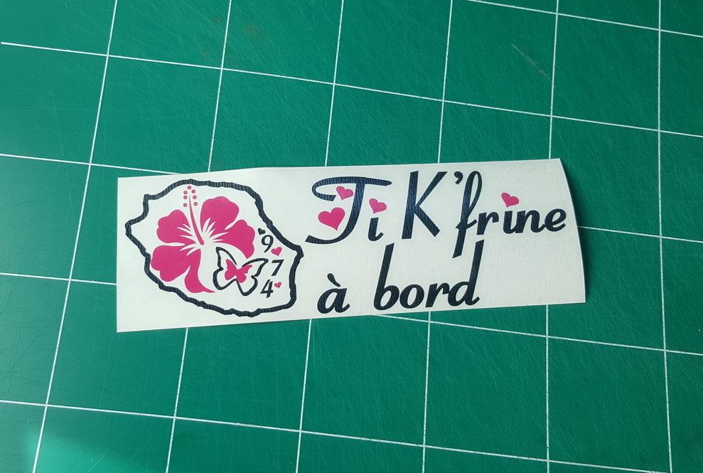 Sticker Bébé à bord 26 - Ti K'frine à Bord